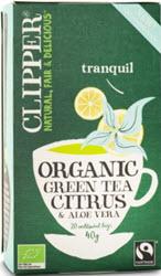 grönt te med citrus